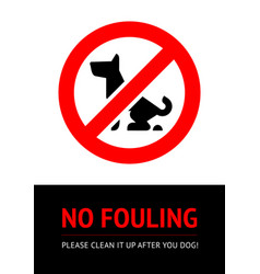 No dog fouling sign concept or real banner vector