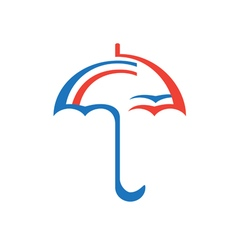Original Stylized Umbrella vector image