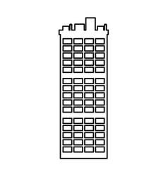 Outline building apartment city landmark vector