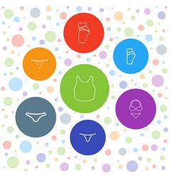 Panties icons vector