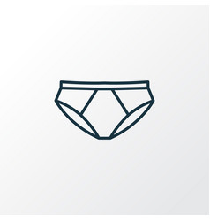 Panties outline symbol premium quality isolated vector