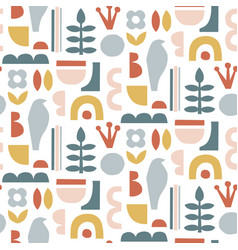 paper cut pieces trendy abstract paper shapes vector image