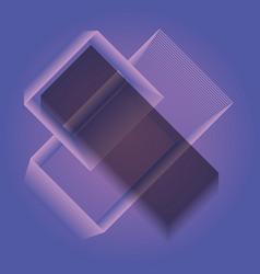 Pattern of geometric figures vector