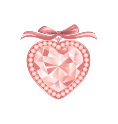 pink diamond jewelry vector image