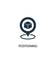 Positioning icon simple element vector