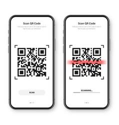 Qr code scanner reader app for smartphone vector
