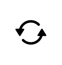 refresh reload rotate icon signs and symbols can vector image