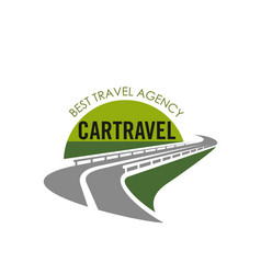Road icon for tourist travel agency vector