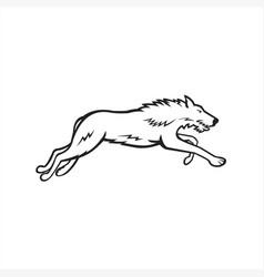 scottish deerhound side black and white vector image