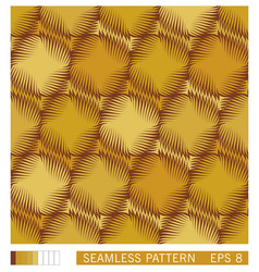 Seamless pattern symmetrical round shapes with vector