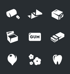 set of chewing gum icons vector image