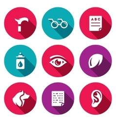 Set of Disability Icons Lameness vector