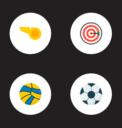 set of sport icons flat style symbols with vector image