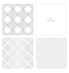 set-pattern-gray-two vector image