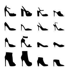 set women shoes vector image