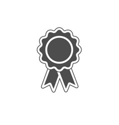 Silhouette white on gray award icon isolated vector