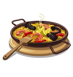 Spanish food paella vector
