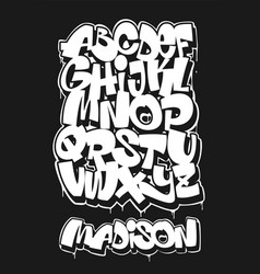 street graffiti font handwritten typography vector image
