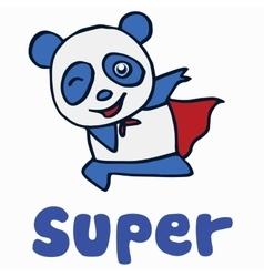 Super panda for t-shirt design vector