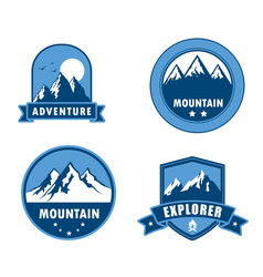 symbol adventure mountain vector image