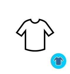 T-shirt clothes icon vector image