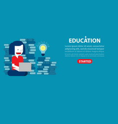 template of education character concept education vector image