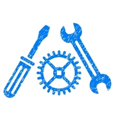 Tuning Service Grainy Texture Icon vector