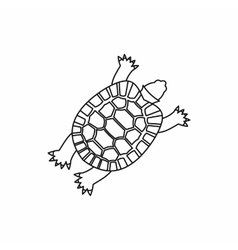 Turtle icon outline style vector image