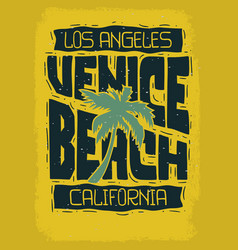 Venice beach los angeles california vintage vector