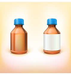 Vial for drugs vector image