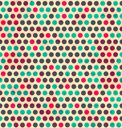 vintage circle seamless pattern with grunge effect vector image