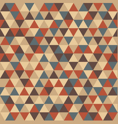 vintage geometry pattern retro color in funny vector image