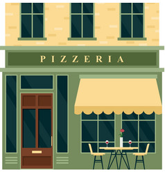 vintage pizzeria cafe restaurant house building vector image