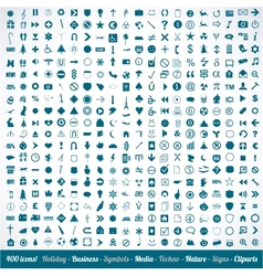 400 various icons symbols and design elements vector image vector image