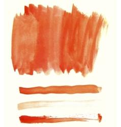 Orange watercolor elements for design vector image