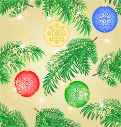 Seamless texture christmas decoration branch vector