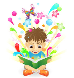 the joy of learning vector image vector image
