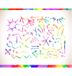 colorful watercolor arrows vector image vector image