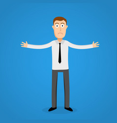 confused business man cartoon person vector image