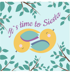 its time to siesta vector image