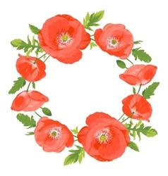 Poppies wreath vector image vector image