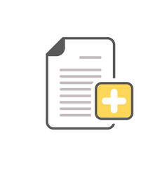 add document file new page plus icon vector image