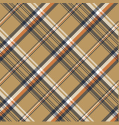 beige check plaid tartan pixel seamless pattern vector image vector image