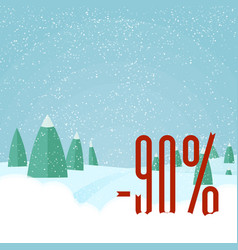 christmas sale card winter holidays vector image