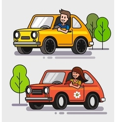 driver with car vector image