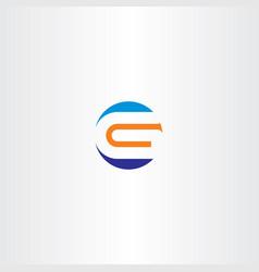 letter g logo orange blue icon sign vector image