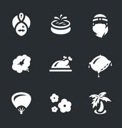 set of arabic harem icons vector image