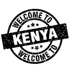 welcome to kenya black stamp vector image vector image