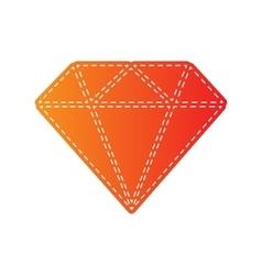 Diamond sign Orange applique vector image vector image