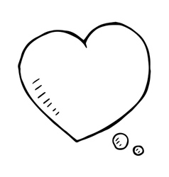 hand drawn love speech bubble isolated vector image vector image